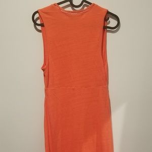 Free People Dresses - FREE PEOPLE Seaport Plunge Coral Midi Dress